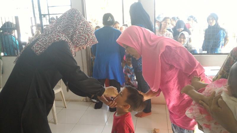 Begini Imunisasi Polio di Kota Batam