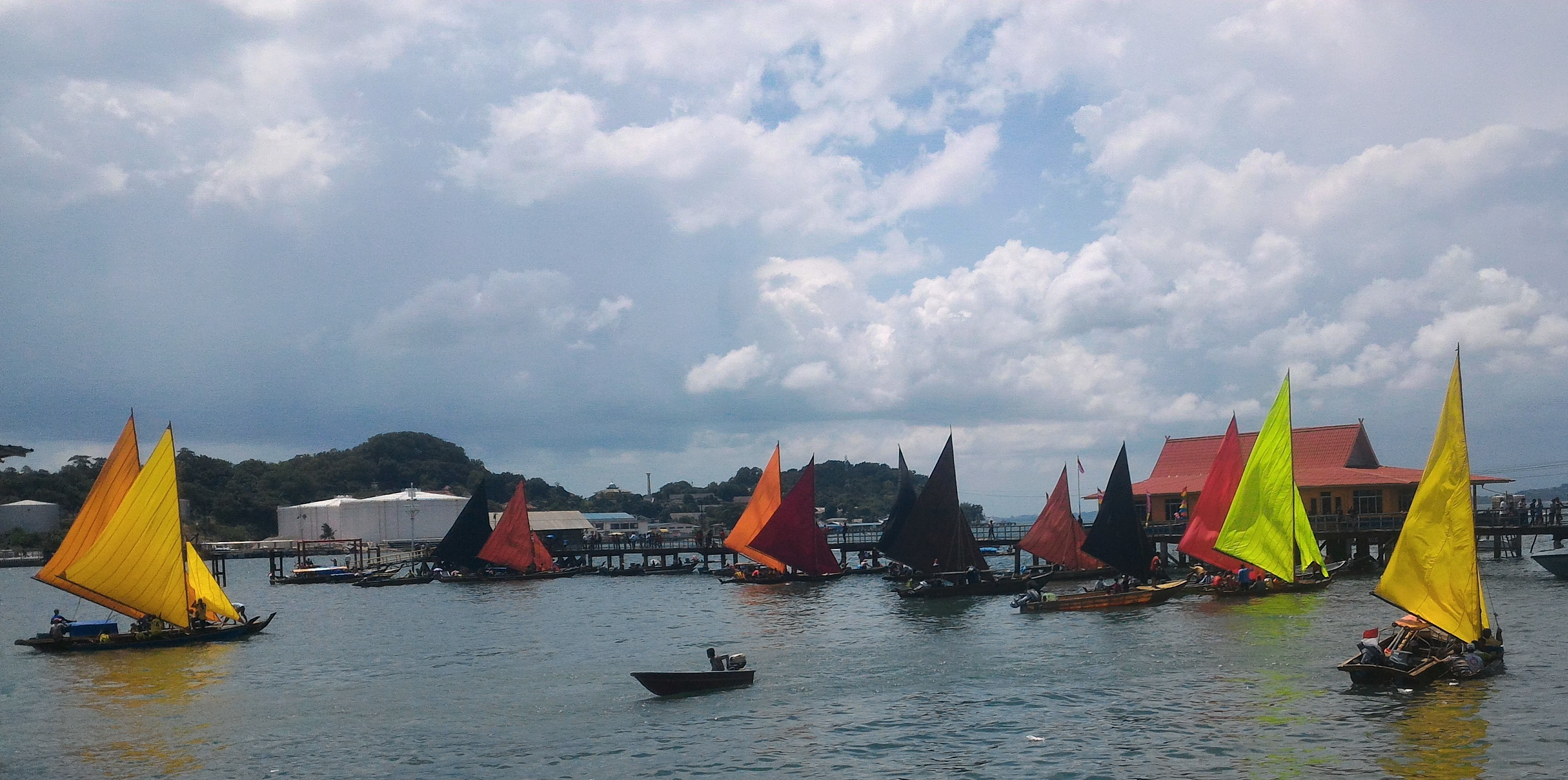 Enjoying The 59th Boat Race at Belakang Padang, Batam