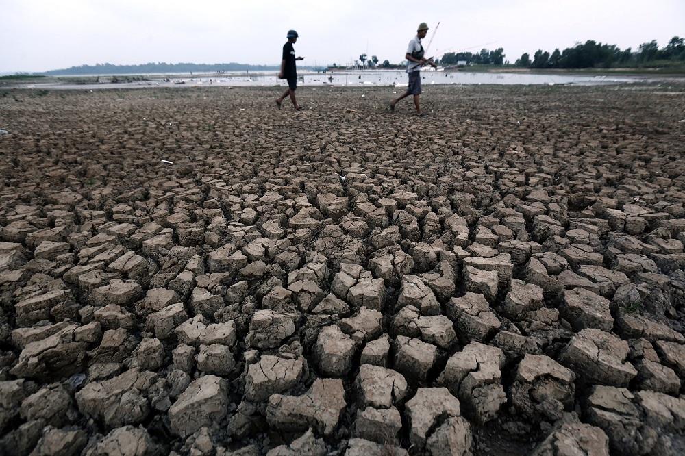 Dam Duriangkang saat El Nino akhir 2015 lalu.   Dokumentasi ATB